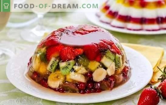 Galaretka z owocami to lekka i kolorowa uczta. Oryginalne receptury owoców, nabiału, galaretki ze śmietany z owocami