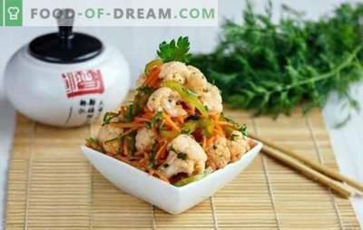 Koreańskie przekąski - najbardziej pachnące i smaczne! Przepisy na różne koreańskie przekąski z bakłażanów, kurczaka, cukinii, marchwi i pomidorów