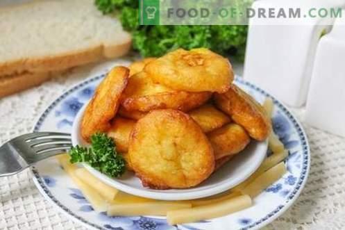 Croquetas de papa - un plato interesante de papas comunes