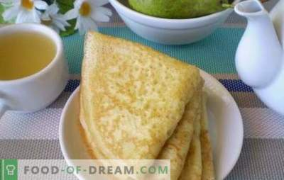 Pfannkuchen mit saurer Milch sind am meisten flauschig und rötlich. Lernen Sie die kulinarischen Geheimnisse des Kochens von Pfannkuchen mit Sauermilch