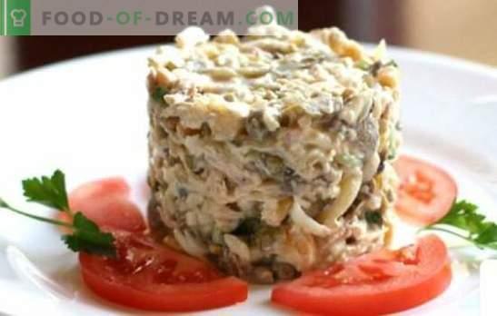 Salade de poulet et jambon - les meilleures recettes éprouvées. Délicieuse salade au poulet et au jambon: ajoutez des champignons, des ananas ou des noix?
