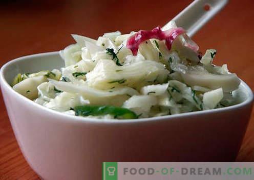 Sałatka z marynowaną cebulą - wybór najlepszych przepisów. Jak prawidłowo i smacznie przygotować sałatkę z marynowaną cebulą.