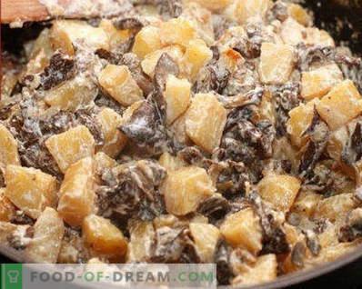 Masła smażone z ziemniakami, przepisy kulinarne