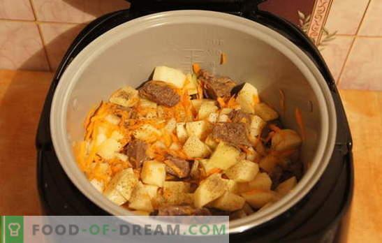 Ziemniaki z mięsem w wolnej kuchence: odpocznij! Przepisy na duszone ziemniaki z mięsem w wolnej kuchence: proste i złożone