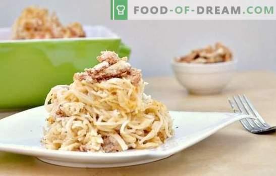 Makaron z grzybami w kremowym sosie - aromatyczne danie na każdy dzień. Wybór najlepszych przepisów na makaron z grzybami w kremowym sosie