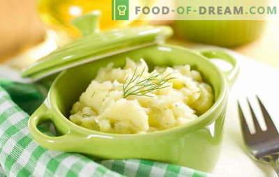 Prosta i wszechstronna ozdoba - puree ziemniaczane z mlekiem. Puree ziemniaczane z mlekiem, jako samodzielne danie