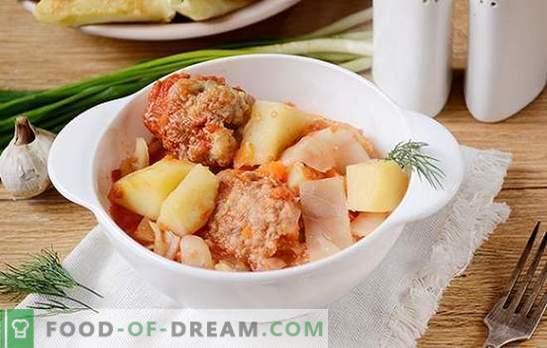Gulasz warzywny z klopsikami w wolnej kuchence: obfite i piękne danie. Autorski przepis na gotowanie w gulaszu warzywnym multicooker krok po kroku