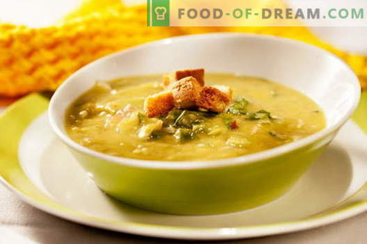 Žirnių vištienos sriuba - geriausi receptai. Kaip tinkamai ir skaniai virti žirnių sriuba su vištiena.