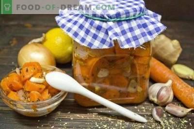 Marynowana marchewka z cebulą i oregano