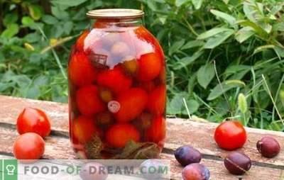 Pomidorai su slyvomis žiemai - mes prisiminsime vasarą! Pomidorų virimo ruošinių ir slyvų receptai ir paslaptys žiemai