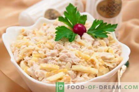 Salad Tenderness - najlepsze przepisy. Jak właściwie i smacznie gotować sałatkę Czułość.