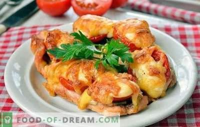 Kotlety z kurczaka w piekarniku - wyjątkowo smaczne! Gotowanie kotletów z kurczaka w piekarniku z grzybami, warzywami, serem