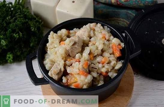 Gerstenpilaf: ein schrittweises Fotorezept. Phänomenal nützliches und ungewöhnliches Gericht: duftender und krümeliger Perlpilaw