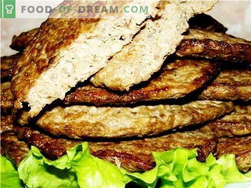 Les galettes de foie sont les meilleures recettes. Comment faire cuire et bien les galettes de foie.
