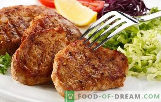 Filete de cerdo en una sartén: ¡aprende a freír la carne de forma deliciosa! Las mejores recetas de bistec de cerdo en una sartén en las marinadas originales