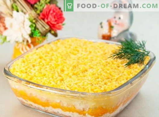 Sałatka Mimosa - najlepsze przepisy. Jak właściwie i smacznie sałatkę Mimosa.