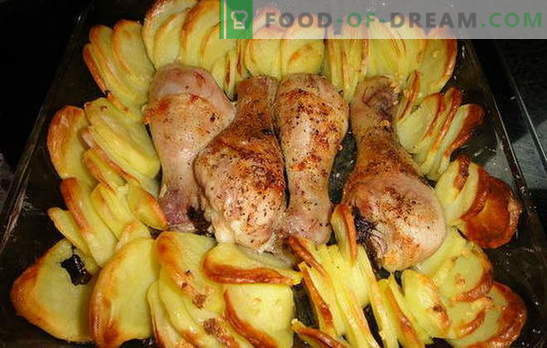Udka z kurczaka z ziemniakami w piekarniku - wspaniała kolacja! Przepisy na udka z kurczaka z ziemniakami w piekarniku: 7 wariantów jednego dania