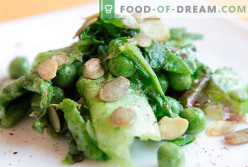 Sałatka z zielonym groszkiem - sprawdzone receptury. Jak ugotować sałatkę z zielonym groszkiem.