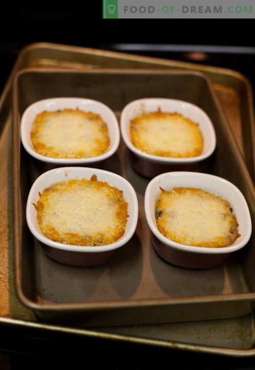 Julienne aux champignons - les meilleures recettes. Comment cuire correctement et savoureux juliens avec des champignons.
