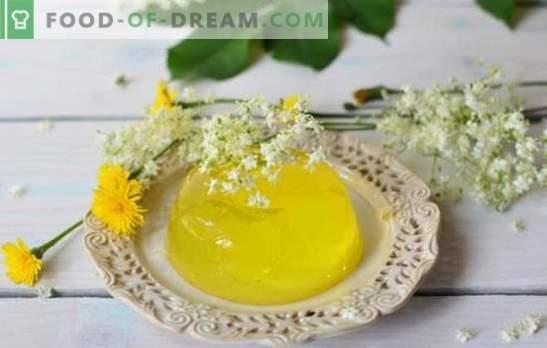 Cytrynowy galaretka - pikantny deser, zawsze taki jest. Warunki gotowania i wariacje potraw na bazie galaretki cytrynowej