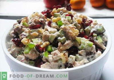 Sałatka z kurczakiem ze śliwkami - najlepsze przepisy. Jak prawidłowo i smacznie ugotować sałatkę z kurczaka ze śliwkami.