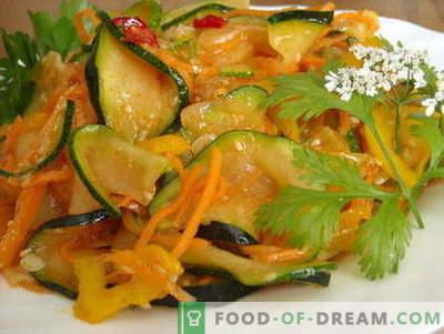 Courgettes à la coréenne - les meilleures recettes. Comment cuire correctement et savourer les courgettes en coréen.