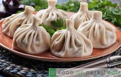 Steamed Khinkali - nowe przepisy na niesamowite dania. Gotowanie pysznych chinkali na parze z mięsem, grzybami, warzywami, słodkim nadzieniem