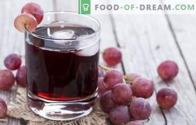 Sok winogronowy na zimę w domu: jak to zrobić poprawnie? Najlepsze receptury soku winogronowego na zimę z patelni lub sokowirówki