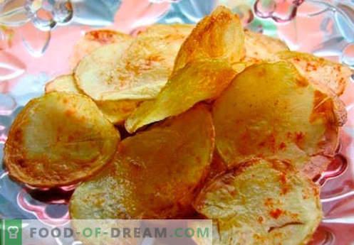 Domowe chipsy - najlepsze metody gotowania. Jak gotować żetony w domu.