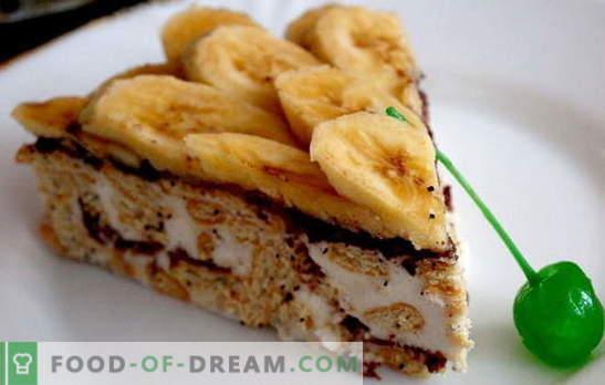 Piernikowe ciasto z bananem i kwaśną śmietaną - a piekarnik nie musi być włączony! Przepisy na pierniki z bananami i kwaśną śmietaną bez pieczenia