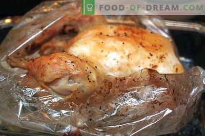 Kurczak w rękawie - najlepsze przepisy. Jak prawidłowo i smacznie ugotować kurczaka do pieczenia.