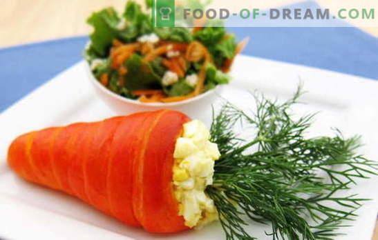 Sałatka z marchwi i jajek - połączenie smaku i korzyści. Najlepsze przepisy na marchewki i jajka: proste, oryginalne i puff
