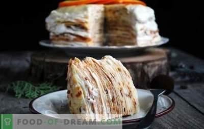 Ciasto naleśnikowe z kremem - kilka opcji na delikatny deser. Najlepsze przepisy na ciasto naleśnikowe z kremem