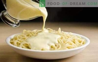 Délicieuse sauce crémeuse pour les pâtes - la clé du plat parfait! Recettes sauces à la crème pour les pâtes aux champignons, crevettes, fromage, saumon