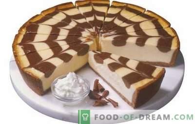 """Ciasto Zebra na jogurt: jak go upiec? Gotowanie ciasta """"Zebra"""" na jogurcie: proste przepisy na domowe wypieki"""