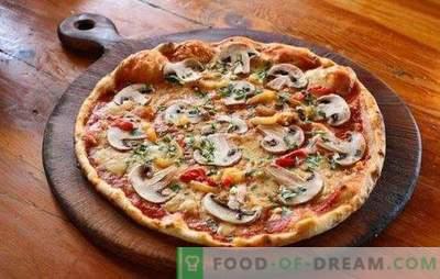Pizza z mięsem mielonym i grzybami: tradycyjne i oryginalne przepisy. Domowa pizza z mielonym mięsem i pieczarkami - najlepsze opcje