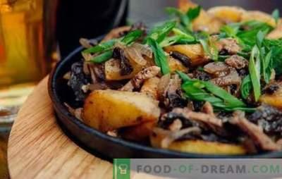 Smażone mięso z cebulą na patelni - wszyscy są szczęśliwi! Przepisy na smażone mięso z cebulą na patelni ze śmietaną i innym sosem
