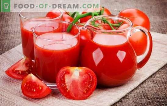 We make tomato juice at home: natural, with vegetables, apples or spices. Methods of making tomato juice for the winter at home
