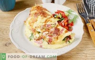 Omlet z serem i kiełbasą: nie może być łatwiej! Autorski przepis na zdjęcie omletu z serem i kiełbasą - jaki jest sekret przepychu omletu?