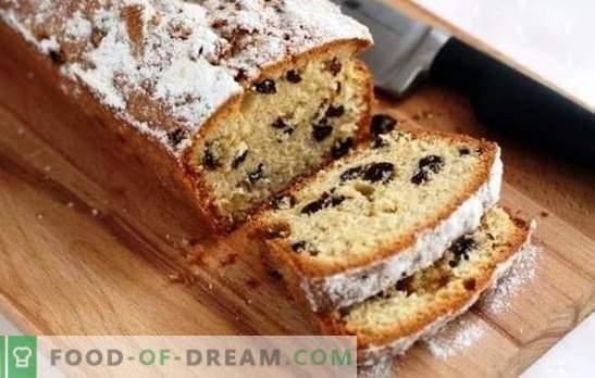 """Idealne ciasto z rodzynkami: przepis według GOST lub domowego wypieku? Babeczka """"Stolichny"""", """"Wiosna"""" i inne - aromat nadchodzących wakacji"""