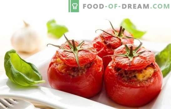 Pieczone pomidory z mielonym mięsem - soczyste, smaczne, oryginalne. Wybór najlepszych przepisów na pieczone pomidory z mięsem mielonym
