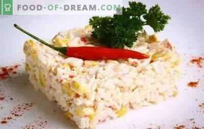 Crab Salad (przepis krok po kroku) to oryginalna przystawka z prostych produktów. Przepis krok po kroku na sałatkę z kraba: wybór i przygotowanie składników