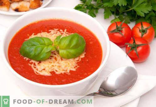 Zupa pomidorowa - sprawdzone przepisy. Jak prawidłowo i smacznie ugotować zupę z pomidorów.
