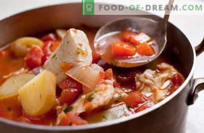 Ragoût de poisson - les meilleures recettes. Comment cuire correctement et savoureux ragoût de poisson.