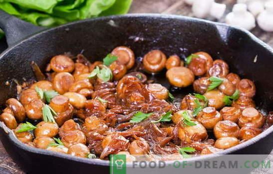 Jak smażyć grzyby - zalecenia i przepisy. Ile smażyć grzyby i smażyć grzyby na patelni, aby danie było smaczne