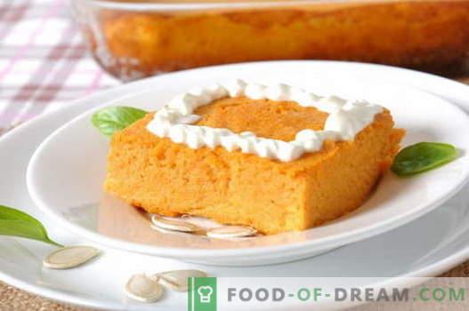 Pumpkin Casserole - najlepsze przepisy. Jak właściwie i smacznie gotować zapiekankę z dyni.