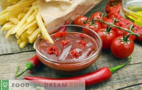 Ketchup pomidorowy na zimę: niezastąpiony sos na każdą potrawę. Najbardziej smaczne i oryginalne domowe przepisy ketchupowe na zimę z pomidorów.