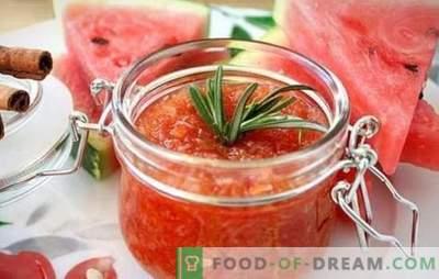Dżem arbuzowy na zimę - poświęcony jest wszystkim słodyczom! Zbierz smaczny i pachnący dżem z miąższu arbuza i skorup