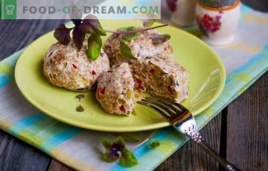 Paszteciki dietetyczne w piekarniku mięsa, kurczaka, ryb. Sekrety i przepisy na kotlety do dietetycznego jedzenia w piekarniku