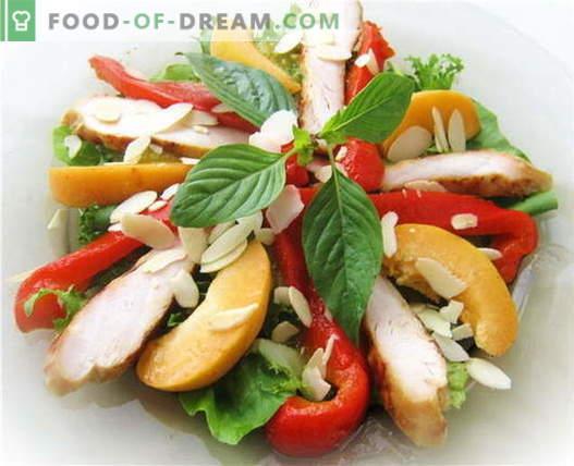 Sałatka z kurczakiem i papryką - najlepsze przepisy. Jak właściwie i smacznie przygotować sałatkę z kurczakiem i papryką.